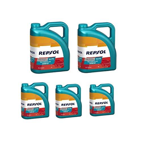 Repsol Aceite de Motor Elite MULTIVÁLVULAS 10W-40, 5x5L (25 litros)