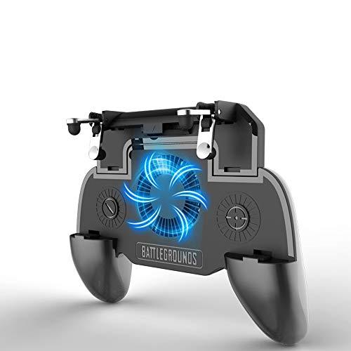 Mobile Game Controller Regolatori per videogiochi PUBG Mobile Joystick con Ventola di Raffreddamento e Built-in 4000 mAh Battery Bank Power, Giochi Portatili Gamepad Compatibile 4,7 - 6,5 pollice