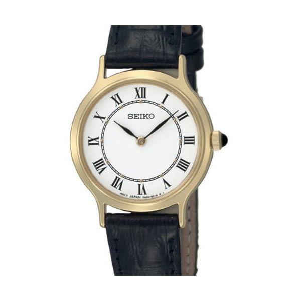 Seiko SFQ830P1 – Reloj analógico de mujer de cuarzo con correa de
