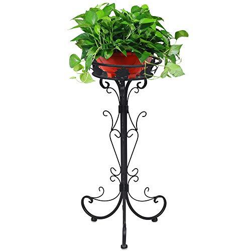ガーデンラック アイアン ホワイト 植物スタンド 花台 転倒防止 花棚 園芸ラック 盆栽棚 プランタースタンド 室内 屋外 植木鉢 鉢置きスタンド おしゃれ オーベー風
