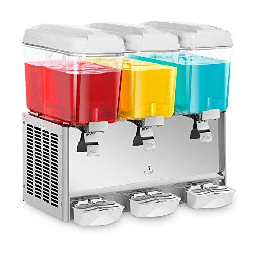 Royal Catering Dispensador De Bebidas Frías RCSD-54C (3 x 18 L, 390 W, 7-12 °C, Sin BPA, Ciclo de trabajo: 8-12h)