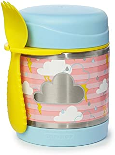 Skip Hop Forget-Me-Not Stainless Steel Insulated Food Jar and Spork, Cloud