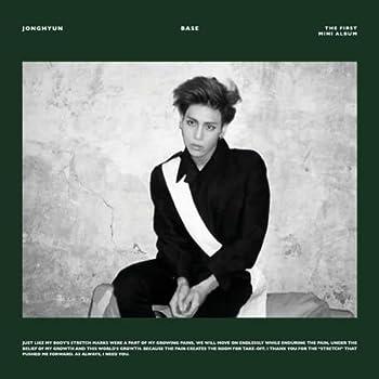 JONGHYUN SHINee - Base  1st Mini Album  [Random cover] CD + Photobook + Photocard + Extra Photocards Set