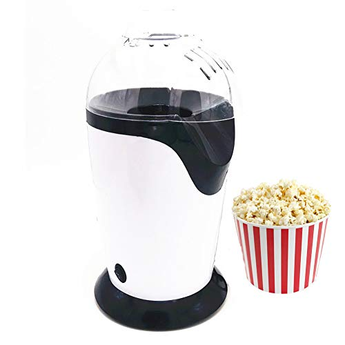 Review DONG HAI Popcorn Machine Hot Air Popcorn Maker, Non-Stick Coated Heating Surface, Lid Also Se...