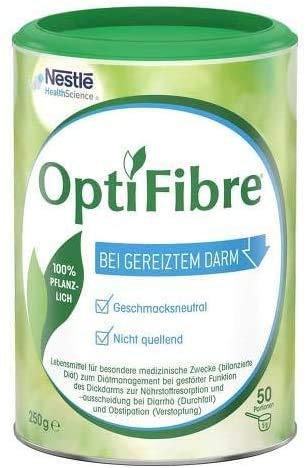 OptiFibre Pulver | 1 x 250g Dose zum Diätmanagement bei gestörter Funktion des Dickdarms zur Nährstoffresorption und -ausscheidung bei Durchfall und Verstopfung | bei gereiztem Darm | 100% pflanzlich