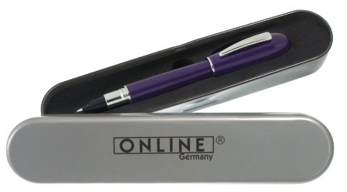 Online 38139 - Tintenrollerball -Highway of writing- inklusive Metall Box, blackberry
