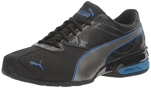 PUMA Tazon 6, Zapatillas Hombre, Black Aged Silver True Blue, 40 EU