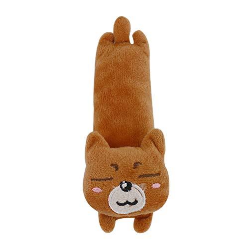 Danigrefinb Catnip speelgoed voor huisdier katten kitten schattig konijn beer hond pluche pop kattenkruid interactief spelen speelgoed, Eén maat, Beer *