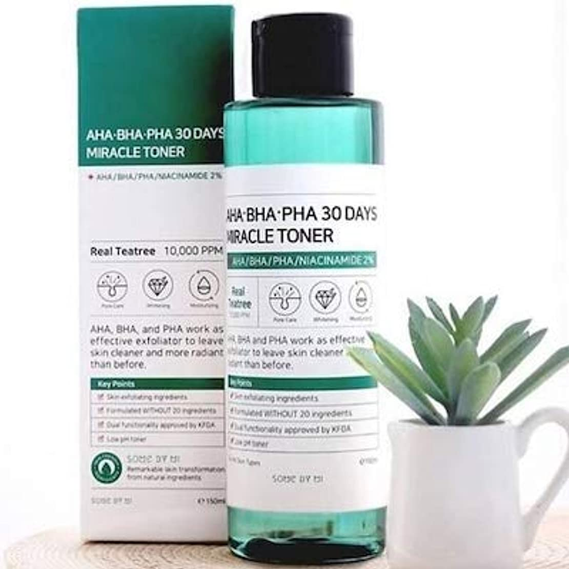 スラム小麦困惑Somebymi AHA. BHA. PHA 30Days Miracle Toner 150ml/Korea Cosmetic