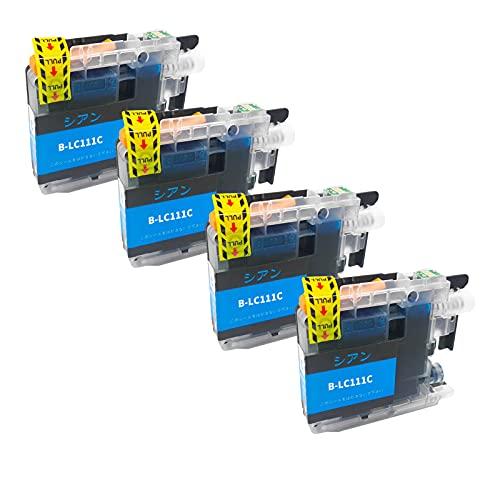 SXCD LC111 Cartuchos de Tinta para su Hermano, reemplazo para el Hermano MFC-J870N J877N J890DWN J720D J727D DCP-J552N Impresora de Alta Rendimiento Compatible con 4 Colo Cyan x 4