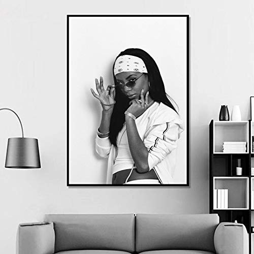 Lazy Wings Aaliyah Poster Wall Poster Aaliyah Poster Poster Aaliyah Music Wall Art Wall Print Wall Decor Home Decor Birthday Gift (A4 Paper 8.5x11)