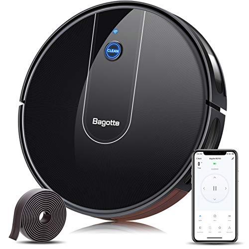 Bagotte Robot Aspirapolvere, WiFi & Alexa Connected, 1600Pa Forte Aspirazione