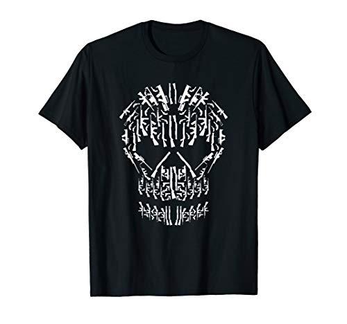 Totenschädel aus verschiedenen Waffen   Pistole Gewehr Waffe T-Shirt