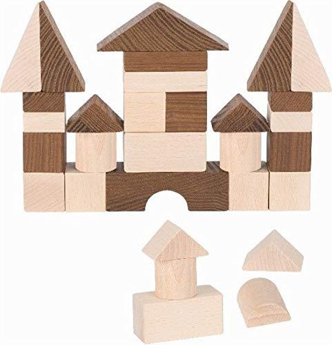 Goki 58537 Bausatz - Spielzeug-Bausteine (braun, Holz, Holz, 30-g), 640 g