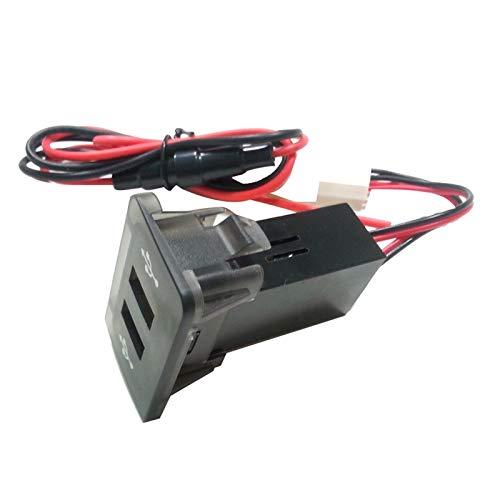 MMYX Interruptores de automóviles Cargador USB Relés automático Dasuario Panel Doble USB Puerto Cargador Power Outlet Fit para VW Golf 4# BL4 (Color : AS Show)