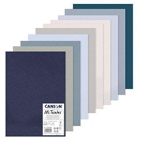 Canson Mi-Teintes Pack A3 10H 60% Abeja 160g Tonos Fríos