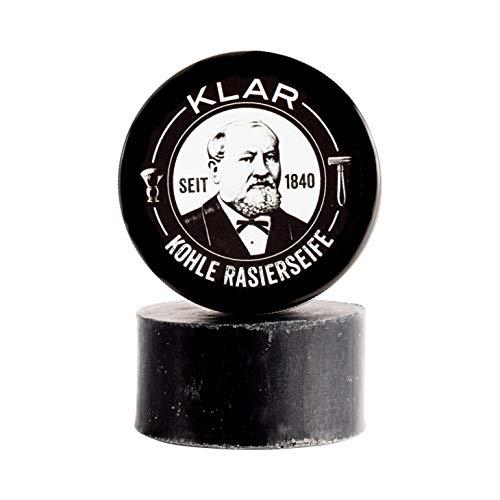 Klar's - Kohle Rasierseife in Blechdose - ohne Palmöl