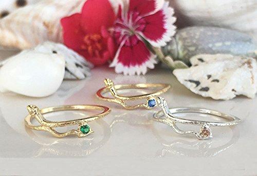 Any Birthstone Ring - Snake Ring - Gold Ring - Stacking ring - Animal Ring - Minimalist Ring - Delicate Ring - Simple Ring
