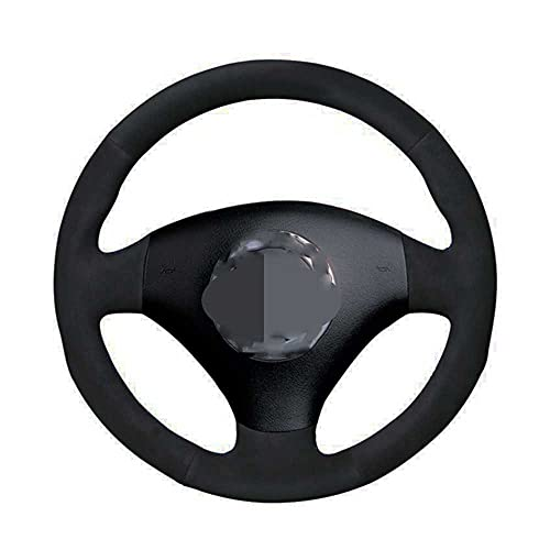 ZIMAwd Car Steering Wheel Cover Black Hand-Stitched Suede,For Audi A2 8Z A3 8L Sportback A4 B6 Avant A8 A6 C5 D2 TT 8N S3 S4 R