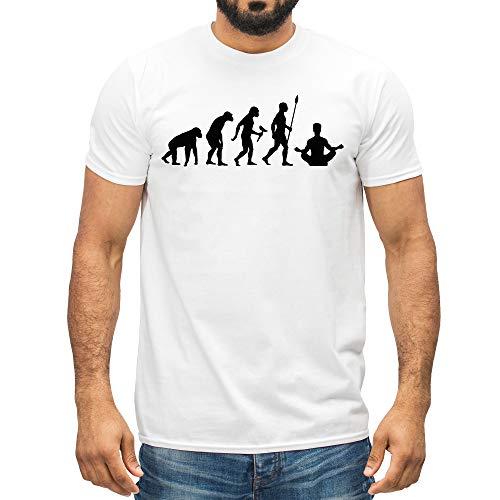Camiseta de yoga con diseño gráfico de evolución para hombre y mujer