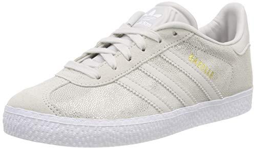 adidas - Gazelle C - Chaussures de Gymnastique - Mixte Enfant - Blanc (Ftwr White/Grey One F17) - 30 EU
