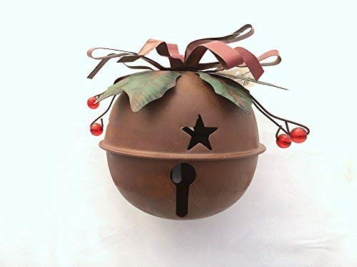 ACCENTHOME Metal Rustic Red Holiday Jingle Bell Christmas Decor Christmas Tree Decor (Small)