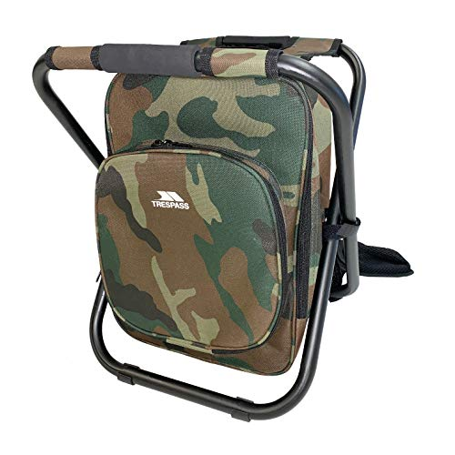 Trespass Jubilee 1.8 Litre Coolbag Backpack Chair for Hiking, Fishing & Camping (Camo)