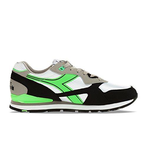 Diadora N-92 Sneakers Uomini Bianco/Nero/Verde - 36 - Sneakers Basse