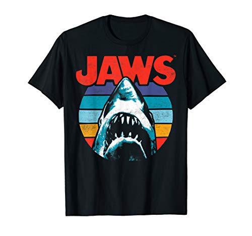 Men's Jaws Retro Stripes T-shirt in 4 Colours for Men or Women