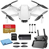DJI Mavic Mini Starter Bundle - Drone FlyCam Quadcopter UAV with 2.7K Camera 3-Axis Gimbal GPS 30min Flight Time, Less Than 0.55lbs, Gray