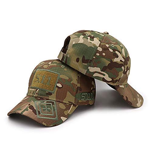sdssup Sombrero 5.11 Velcro Camuflaje Gorra de béisbol Sombrero táctico MST511-CP Talla única