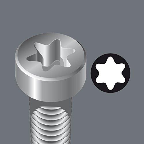 Wera 05031505001 1367 Torx Screwdriver for Torx Screws, TX 10 mm x 80 mm,Multi-Colour