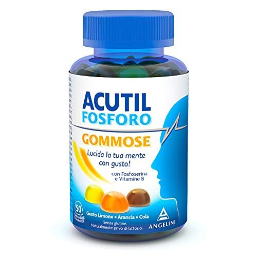 Acutil Fosforo Gommose, Integratore Multivitaminico Alimentare con Fosfoserina e Vitamina B6. Gusto