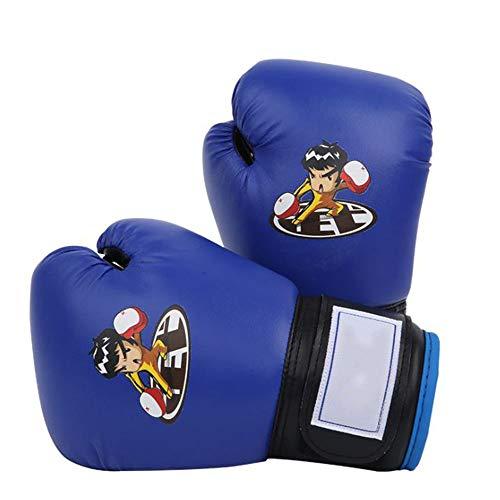 SIWUXIE Elite Sports Kinder Boxhandschuhe, Ausbildung Muay Thai Boxkampf Jugend Handschuhe, für 3-13 Jahre alte Kinder, Baby, Kind,Blau