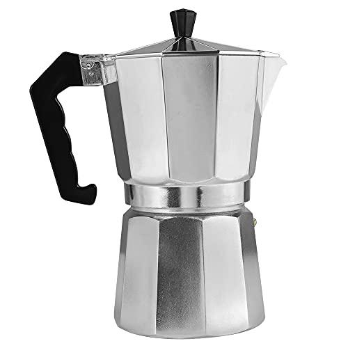 DEI Klassische Kaffeemaschine Aluminium-Espressokanne mit hitzebeständigem Griff Moka-Kaffeekanne für Induktionskochfeld