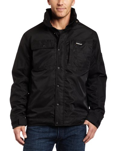 Caterpillar Insulated Twill Jacket, Black, Large
