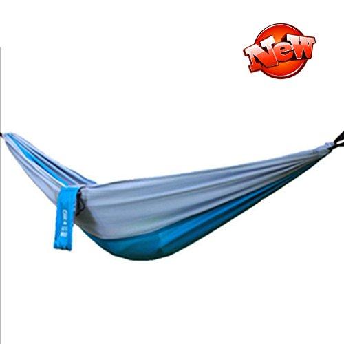 Hamacs balancelles et Accessoires en Plein air Portable Pliant Parachute Tissu Lutte Couleur Unique Plage Tapis de Camping (Color : Grey Blue, Size : 80 * 245cm)