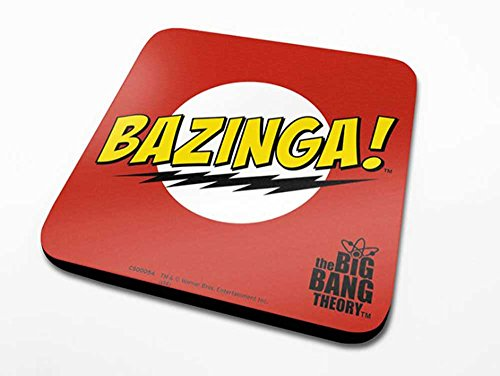 empireposter Big Bang Theory, The – Bazinga Red – Dessous-de-Verre – Dimension 10 x 10 cm