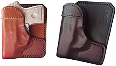 J&J Custom FIT Smith & Wesson S&W M&P Bodyguard 380 BG380 W/Factory Laser Formed Wallet Style Premium Leather Back/Cargo Pocket Holster (Black, Right)