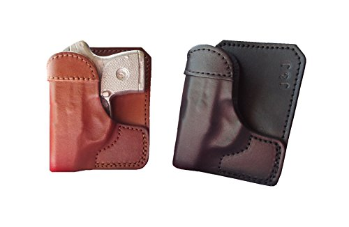 J&J Custom Formed to FIT Smith & Wesson S&W M&P Bodyguard 380 BG380 W/Factory Laser Formed Wallet Style Premium Leather Back/Cargo Pocket Holster (Black, Right)
