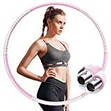 IENIN Weighted Fitness Hoop Exercise Hoops, 6 Adjustable Fitness Hoop Weight Loss Healthy for Adults...