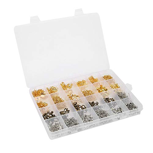 Accesorios de conector de pulsera Juego de accesorios de joyería de bricolaje con diferentes tamaños de acero de calidad, para hacer regalos para padres, amigos