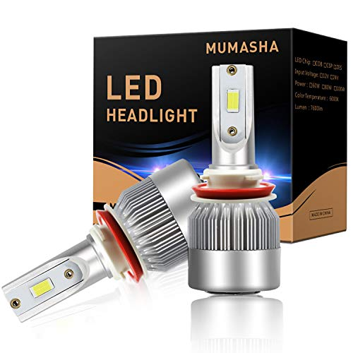 LED Headlight Bulbs Headlight bulb H11 H8 H9 All-in-One Conversion Kit Led headlights with CSP Chips 10,000 Lm 6500K Cool White Beam CSP chips LED Bulbs IP68 Waterproof