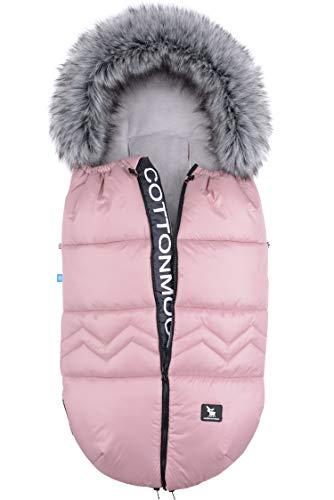 Sacchi termici Sacco Invernale Universale per passeggino e carrozzina morbido pile termico Cottonmoose Moose North (NORTH MOOSE 873 PINK)