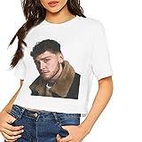 JENNASTOLZZ Women Bazzi Adorable Music Band Short Sleeves Lumbar T-Shirt XL Gift White