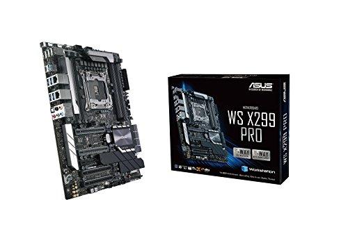 ASUS WS X299 PRO Workstation Mainboard (ATX, Intel X Serie, LGA 2066, 8x DDR4 2933 MHz, PCIe 3.0, SATA, U.2, M.2, NVME, SATA, Dual LAN)