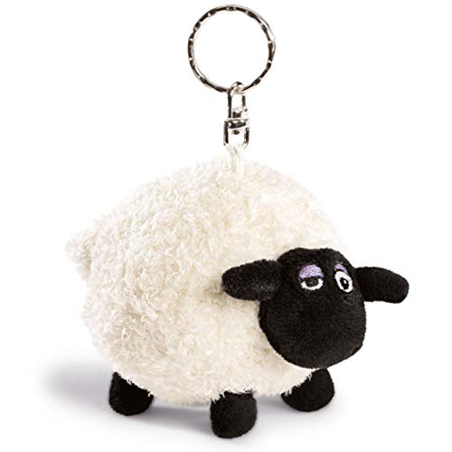 NICI Schlüsselanhänger Shirley das Schaf 10 cm – Kuscheltier Shirley als Shaun das Schaf Kuscheltieranhänger mit Schlüsselring für Schlüsselband, Schlüsselbund, Schlüsselhalter & Schlüsselkette –33099