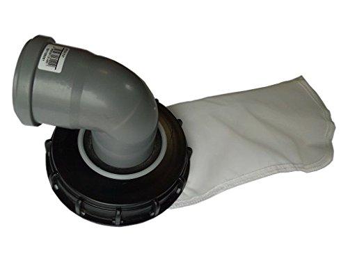VOXTRADE Couvercle IBC (grand récipient en vrac) avec filtre en feutre aiguilleté pour réservoir à eau de pluie IBC de 1 000 L - Excellente qualité 160mm 90 Grad Bogen