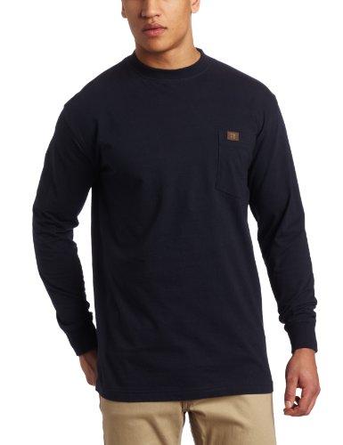 Wrangler Herren Langarm-T-Shirt Rig Workwear - Blau - 3X
