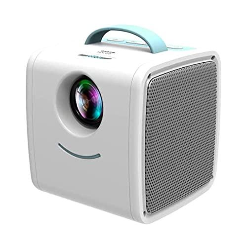LLZH Proyector de Video, LCD Mini Portable Projector Support 1080P Full HD HDMI-Compatible con USB, proyector para el hogar, proyector de películas al Aire Libre